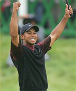 2008 US Masters: Tiger Woods on top, Phil Mickelson tenfold