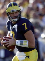 Michigan without quarterback Henne for Notre Dame game