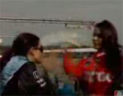 Milka Duno and Danica Patrick fight in Ohio