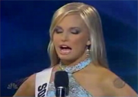 Miss South Carolina, Lauren Caitlin Upton, hard question