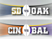 Monday Night Football: Bengals vs. Ravens, San Diego @ Oakland