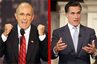 Rudy Giuliani and Mitt Romney squabble on illegal immigration