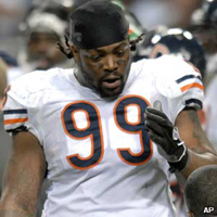Tank Johnson let go by the Chicago Bears after arrest