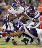 Minnesota Vikings vs. NY Giants odds and point spread