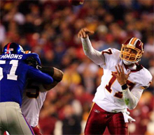 Washington Redskins: 2007 betting odds and lines