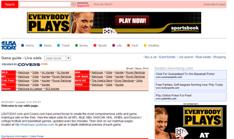 """USAToday"" latest to jump on the Internet betting wagon"